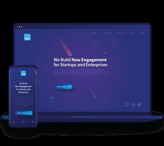 website design Laptop & phone image